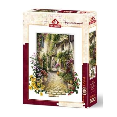 Educa Art Puzzle 500 Parça Çiçekli Ara Sokak Renkli